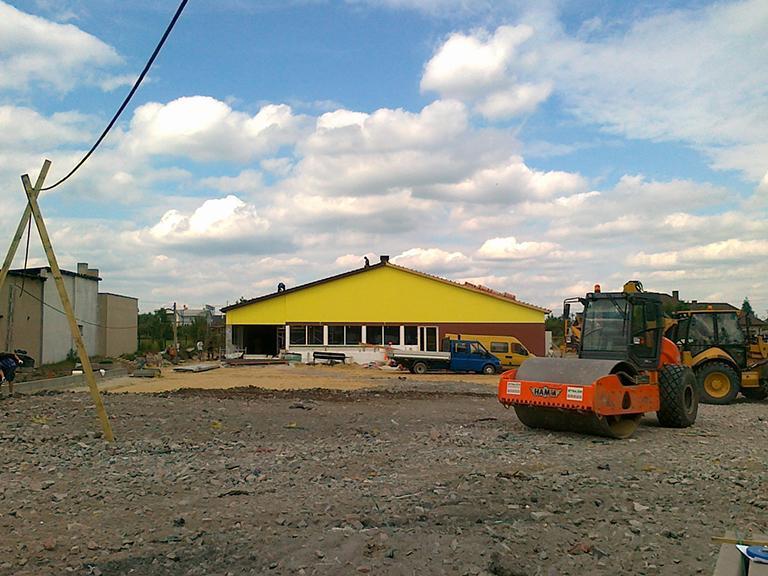 Plac budowy supermarketu